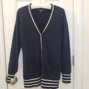 Brooks Brothers Cashmere Cotton Blend Sweater Blue